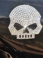 Swarovski Crystals skeleton face logo