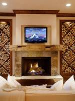 Fireplace in living hall