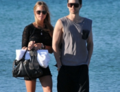 With his girlfriend, Katharina Damm