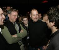 Sergey Brin and Steve Jobs