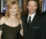 Jerry Bruckheimer and Marg Helgenberger