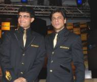 King Khan with KKR captain