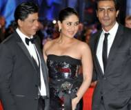 Kareena Kapoor with Shah Rukh Khan and Arjun Rampaul