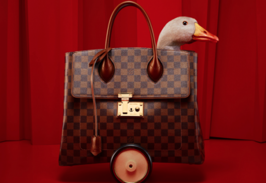 2013 Holiday Catalogue of Louis Vuitton Developed as a Goose Game