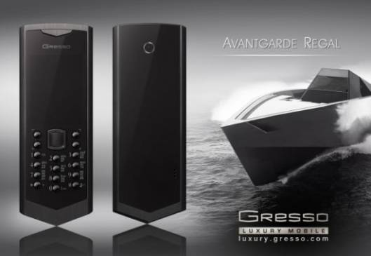Gresso unveils the new Regal Black phone inspired from high-speed yachts