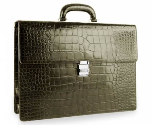 $47,000 Montblanc briefcase boasts finest alligator leather with a diamond-embellished clasp