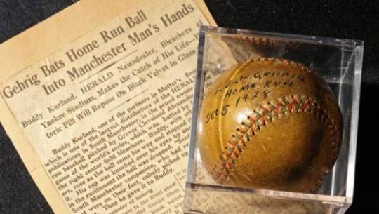 Lou Gehrig home run ball from 1928 World Series