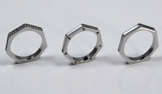 Brikk Heptagonal Women's ring