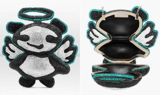 Jimmy Choo and Rob Pruitt's limited edition ANGEL panda minaudière clutch