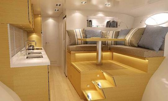 Adastra catamaran super yacht interior