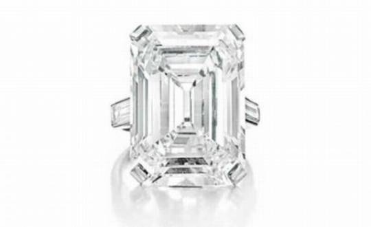 Rectangular-Cut Diamond Ring of 19.86 Carats