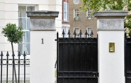One Cornwall Terrace gate