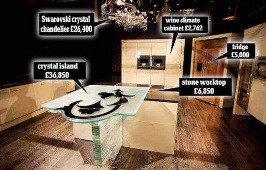 Claudio Celiberti-designed 'Fiore di Cristallo' is the world's most expensive kitchen worth million pound