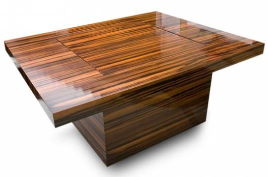 ebony veneered coffee game table mK2lU 52