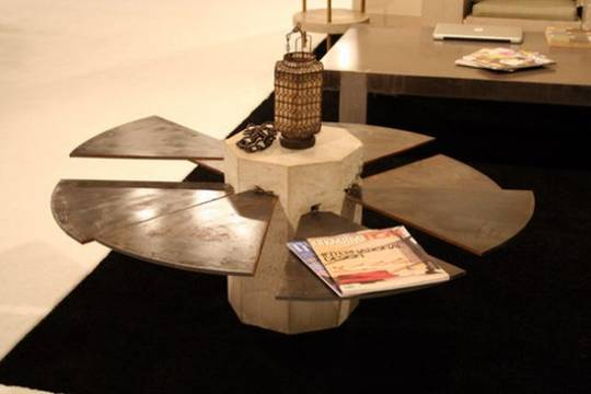 James De Wulf's $4,200 Steel Fan Table is industrial art