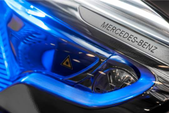 Mercedes Benz GLA Concept SUV will features special headlamps to double up as laser projectors
