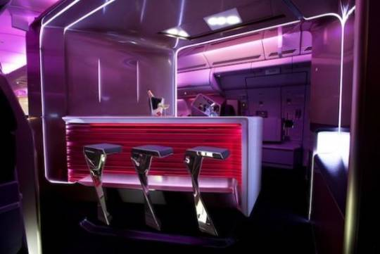 Virgin Atlantic's new Upper Class Suite with bar