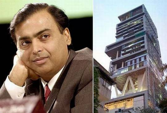 Mukesh Ambani's house Antilla