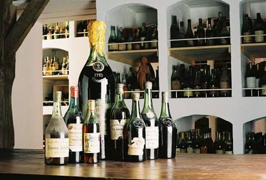 Th cellar of bottles for world's largest collection of liquor