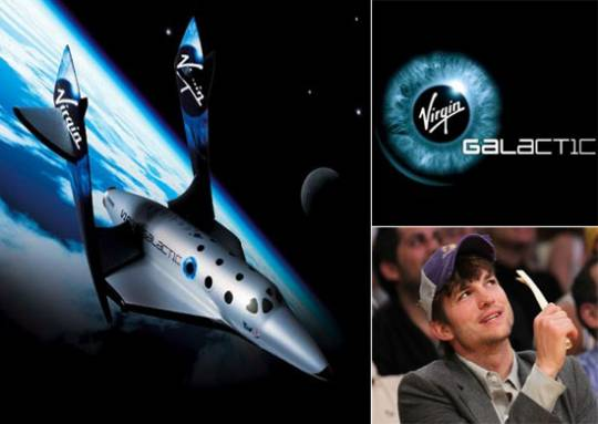 Ashton Kutcher Virgin Galactic