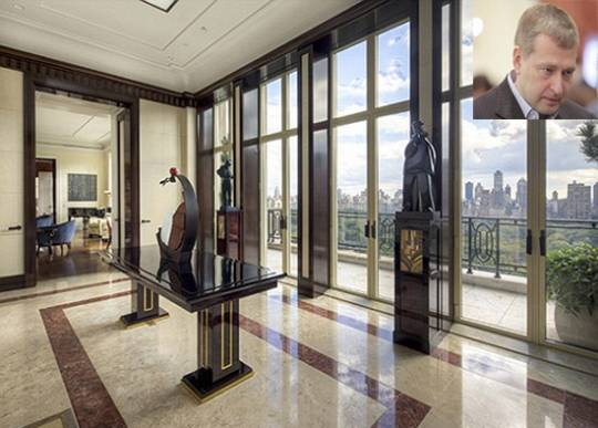 Russian Billionaire Dmitry Rybolovlev and his penthouse living room