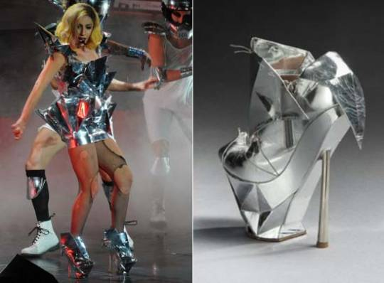 Lady Gaga's lost Armani shoe goes on auction