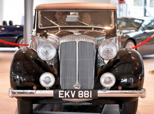 Sir Winston Churchill using the Daimler DB18 has undergone an extensive restoration to look the way it is