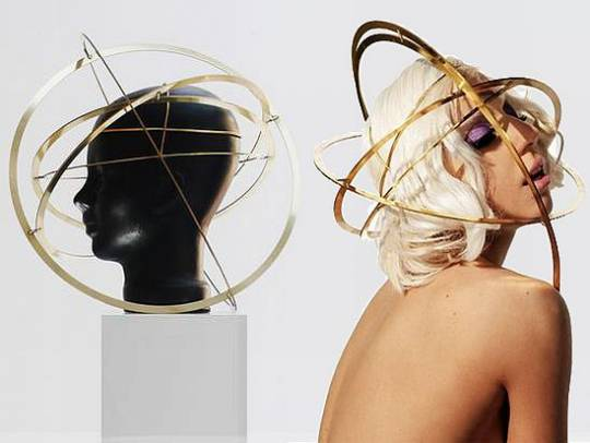 lady gaga orb headpiece