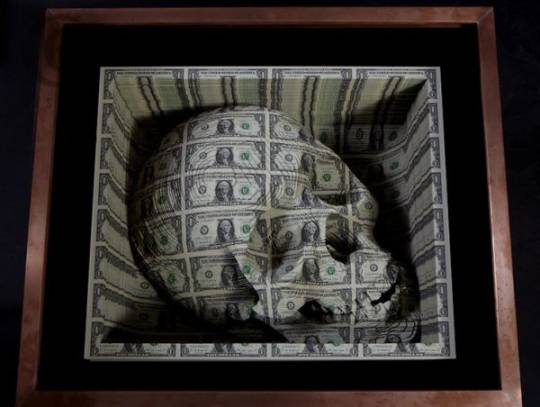 money skull by tattoo artist scott campbell