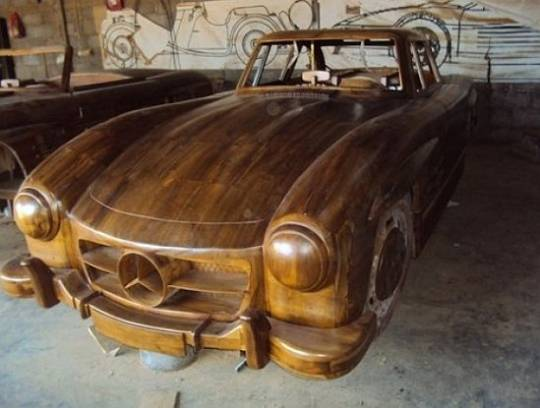1955 Mercedes Benz 300SL Gullwing in wood