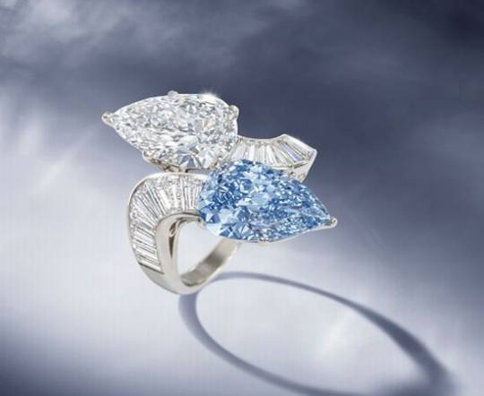 Rare blue diamond ring sold