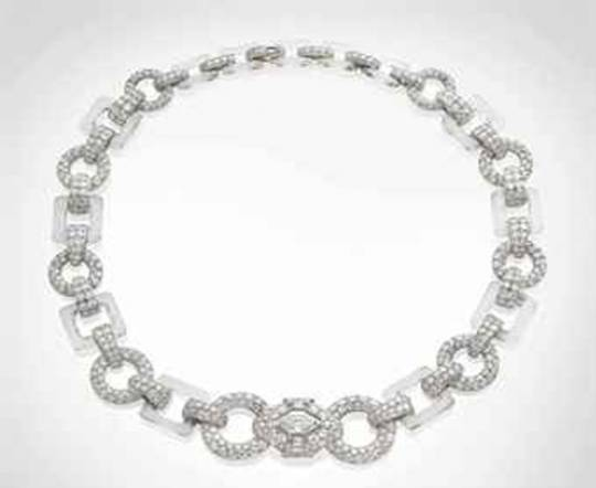 Art deco necklace from the stable of Cartier