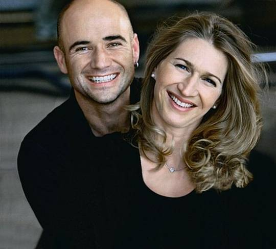 Andre Agassi and Stephanie Graff