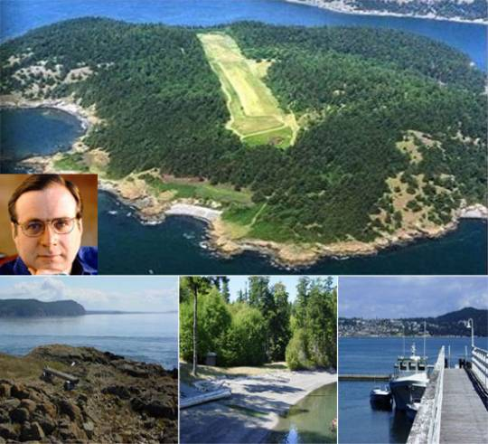 Paul Allen private island