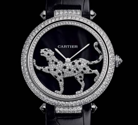 Cartier Masse Secrete Panther Decor Watch