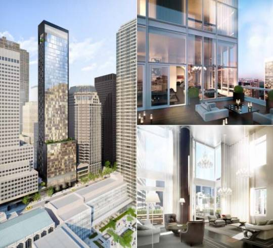 The glass-walled Baccarat Hotel & Residences will rise over W. 53rd St.