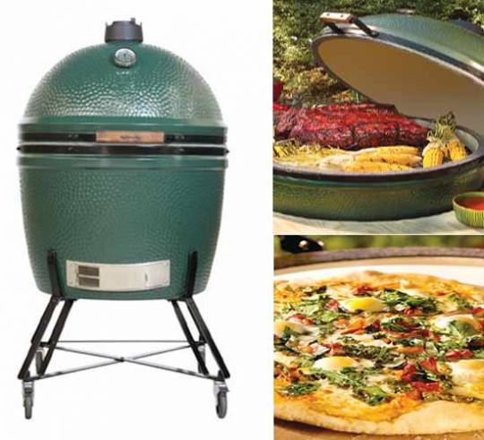 Big Green Egg XXL cooker with some dishes