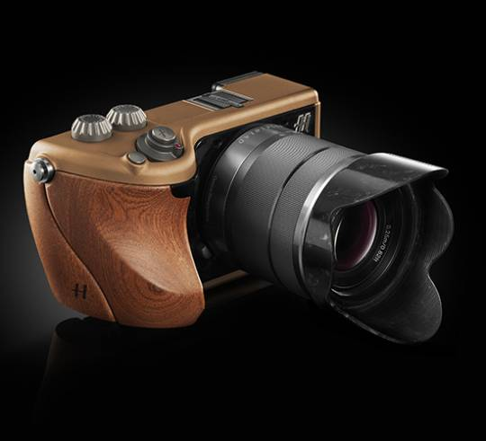 Hasselblad Lunar Italian Mahogany wood and copper
