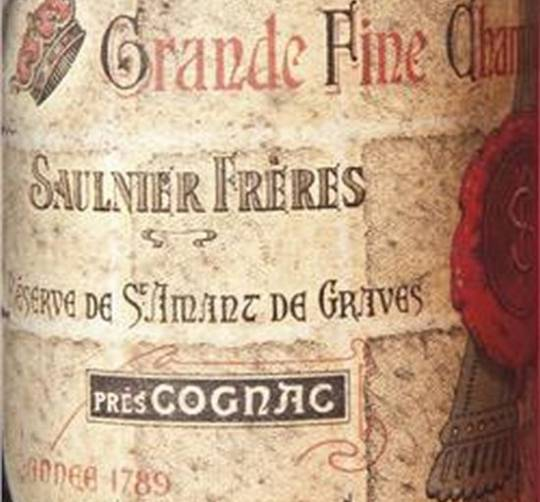 Historical Grande Fine Champagne made in the year of the French Revolution 1789 is up for grabs