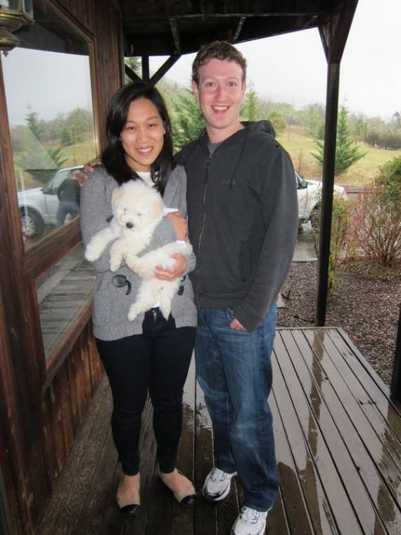 Mark Zuckerberg and his girlfriend with beast