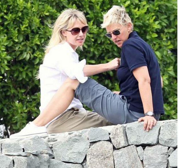 Allen DeGeneres and Portia de Rossi enjoyed the holiday season of 2010 in St. Barts