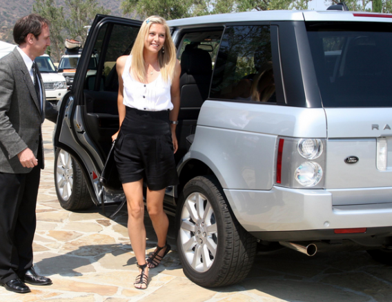 The Russian tennis star is a big fan of Range Rover since the age of 18