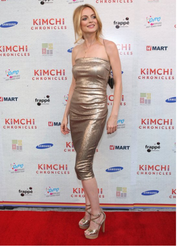 Heather Graham was recently spotted in a red Christian Louboutin Balota Platform Sandal (not in this image).