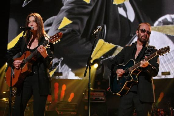 Carla Bruni-Sarkozy and Dave Stewart at