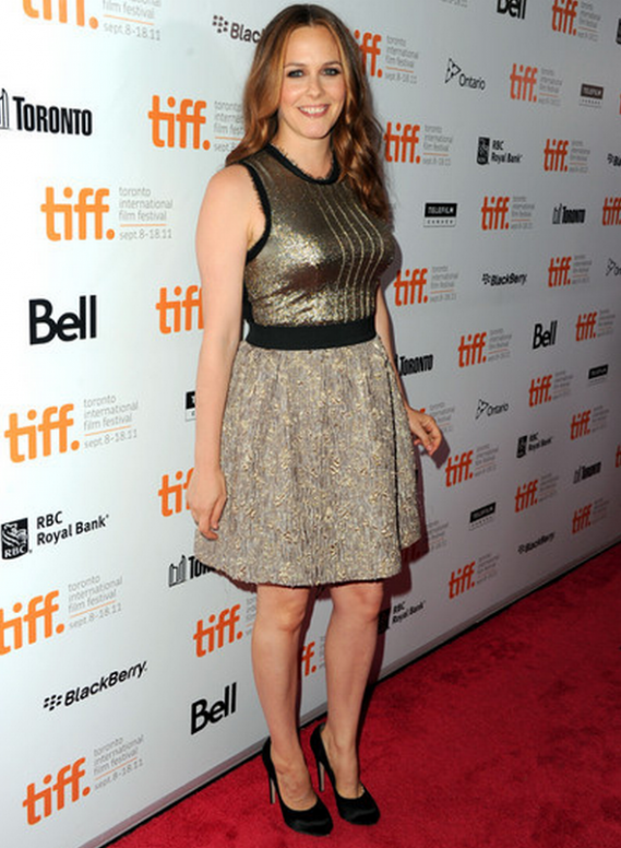 "Alicia wore this designer dress to the TIFF premier of ""Butter"" last year."