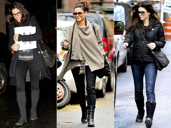Lanvin Ketu Crossbody Messenger Bag is one of Sandra Bullock's favorite accessories and she carries it frequently.