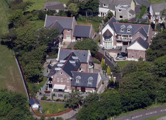 Catherine Zeta Jones and husband Michael Douglas's  Mumbles, Swansea home.