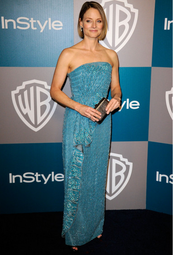 The designer clutch is one of Jodie's favorite accessories and she carried it to the 69th Annual Golden Globes awards held on January 2012.