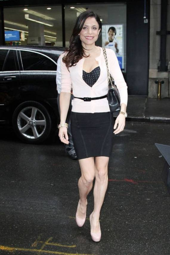 Arriving for The Today Show in NYC, a smiling Bethenny Frankel was seen covering her soles with what have been termed as the maniac pumps from Brian Atwood.