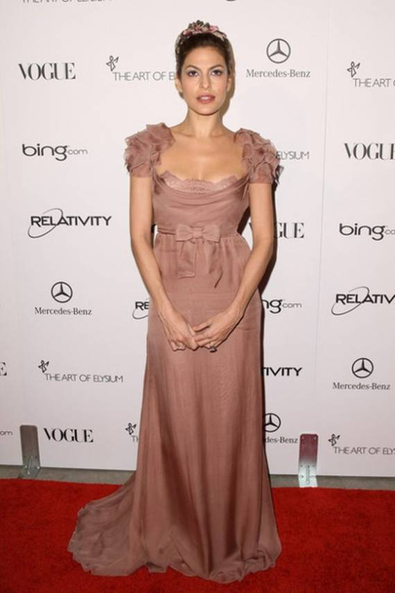 Eva Mendes at The Art of Elysium event